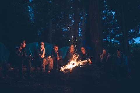 Camping noche amigos