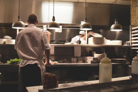 Cocina de restaurante