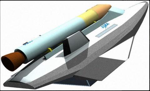 Ilustración de un artista que muestra las naves espaciales que despegarán y aterrizarán horizontalmente.