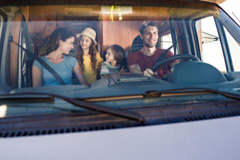 Conducir autocaravana familia
