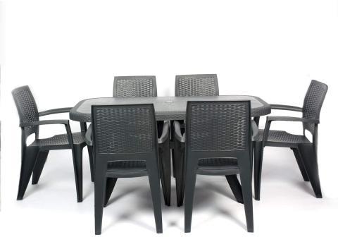 Conjunto 6 sillas y mesa Crevicosta