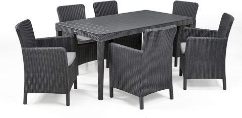 Conjunto 6 sillas y mesa Keter