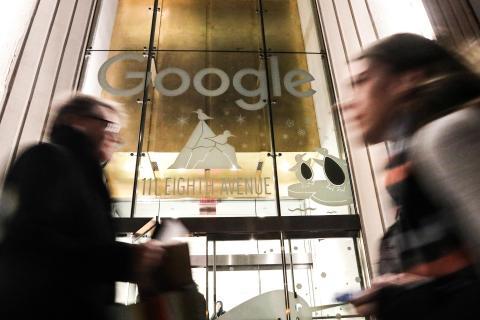 Edificio de oficinas de Google en Nueva York. Reuters