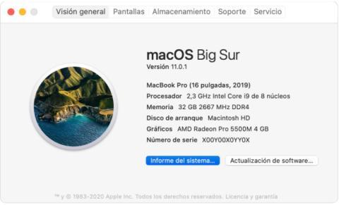 Especificaciones macOS