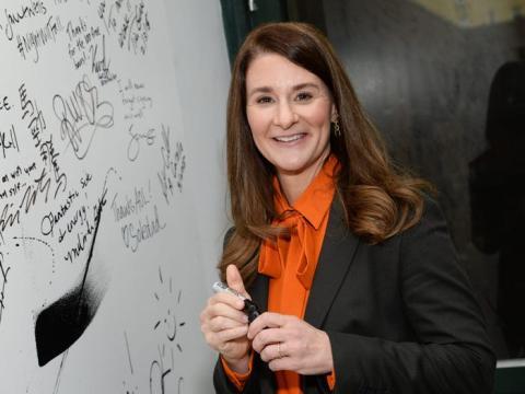 La filántropa Melinda Gates participa en la serie de oradores BUILD de AOL el martes 10 de marzo de 2015 en Nueva York.