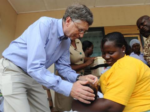 La Fundación Bill y Melinda Gates dona un 5% a la investigación de enfermedades infecciosas.