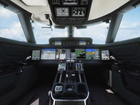 Cabina de mando Symmetry de Gulfstream.