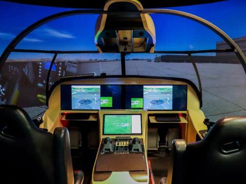 El simulador de Honeywell en Deer Valley (Arizona, Estados Unidos).
