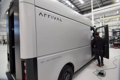 Imagen de un prototipo de la furgoneta eléctrica de Arrival