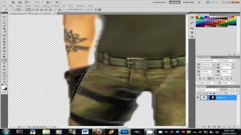 Un caso claro de pixelación que ha tenido lugar al cortar un personaje e intentar pegarlo en una imagen más grande.
