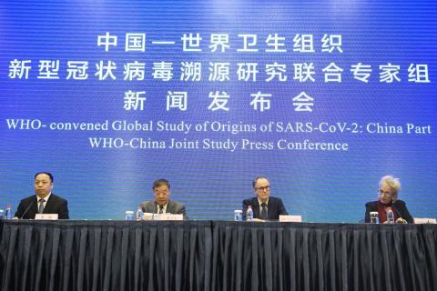 Investigadores de la OMS en Wuhan