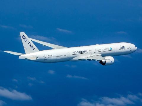 "Israel Aerospace Industries Boeing 777-300ER ""Big Twin"" cargo plane"