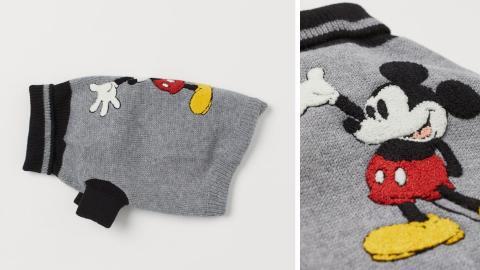 Jersey en punto de poliéster en gris jaspeado con diseño de Mickey Mouse, 19,99 euros.