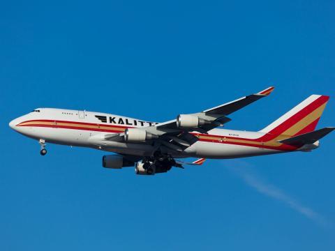Un avión Boeing 747-400F de Kalitta Air.