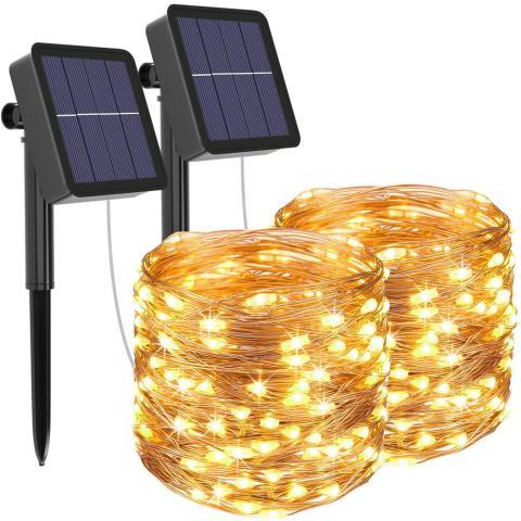 luces LED solares