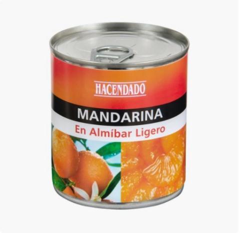 Mandarina en almíbar de Mercadona