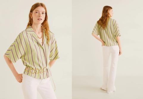 Veraniega camisa de oferta en Mango Outlet por 5,99 euros.