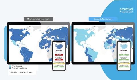 Mapa de restricciones covid de la startup española Smartvel