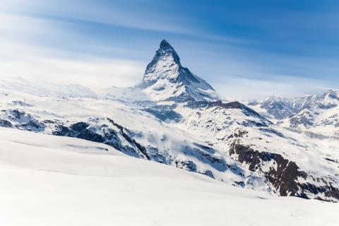 Monte Cervino o Matterhorn, Suiza.