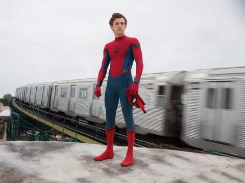 Tom Holland, en el papel de Spider-Man.