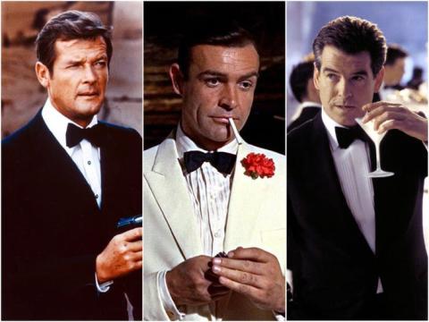 'James Bond' a lo largo de los años.