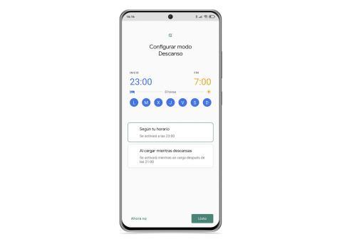 Modo descanso bienestar digital