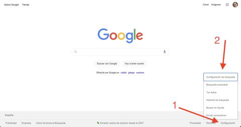 Modo oscuro Google