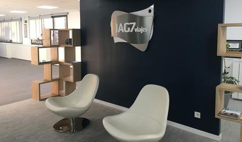 Una oficina de IAG7 Viajes