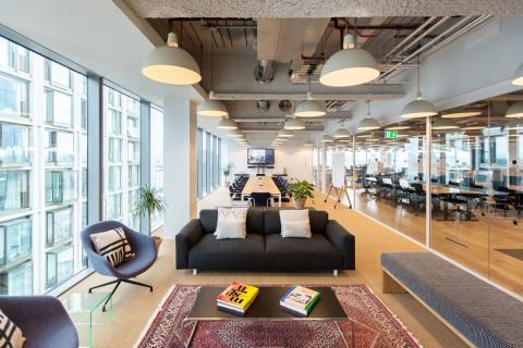 Oficinas de WeWork en Londres, Reino Unido.