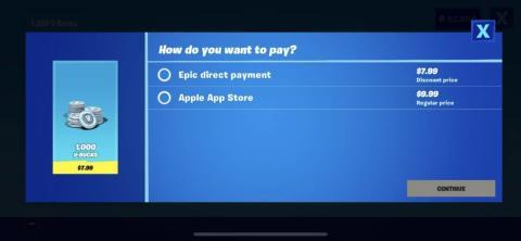 La opción de pago que Epic implementó en 'Fortnite' en iPhone provocó que el juego se lanzara fuera de la App Store.