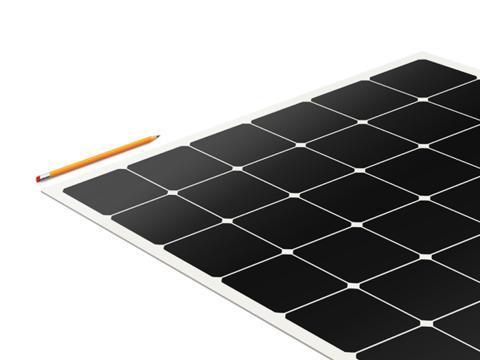 Estos paneles solares son más delgados que un lápiz.