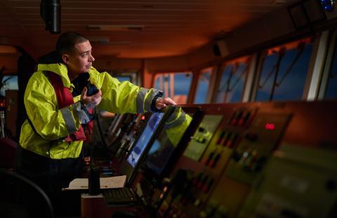 Piloto de buque mercante.
