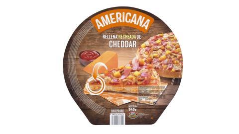 Pizza Americana Mercadona rellena de Queso.
