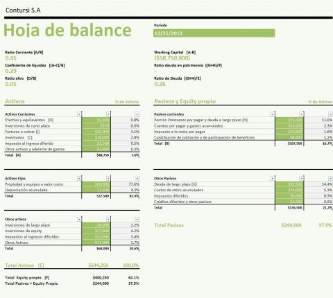 Plantilla de Excel