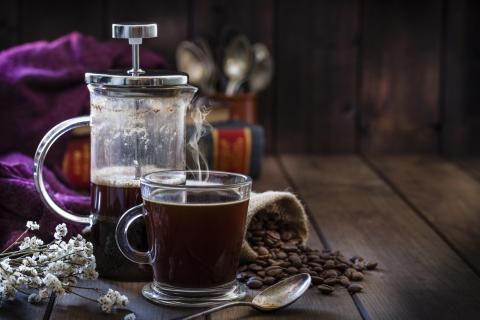 Prensa francesa taza de café