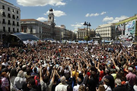 Protestas tras el 15M.