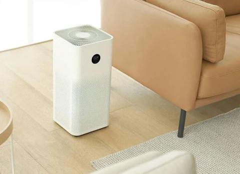 Purificador de aire con filtro HEPA.