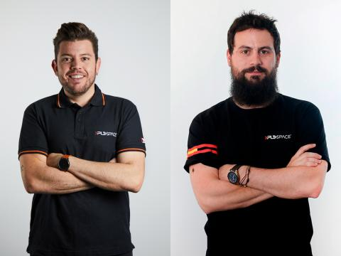 Raúl Torres y Raúl Verdú, fundadores de PLD Space.