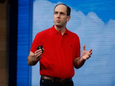 """Scott Guthrie, vicepresidente ejecutivo de la nube y la IA de Microsoft, supervisa Azure y en su día fue descrito por un analista como un """"visionario de la nube."""""""