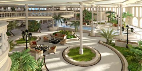 El sector del Oasis replica los jardines del Casino de Mónaco.