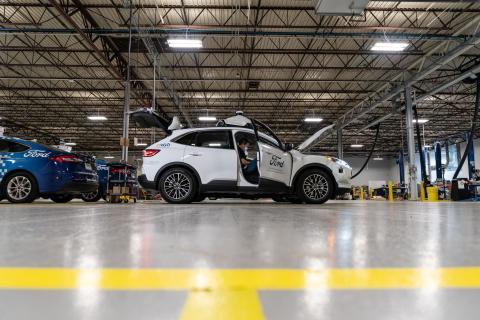 Sistema de coche autónomo de Argo AI sobre un Ford
