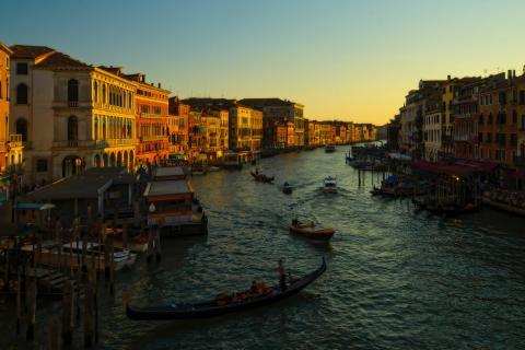 Atardecer en Venecia.