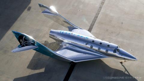 En marzo, dio a conocer su próxima nave espacial, la VSS Imagine.