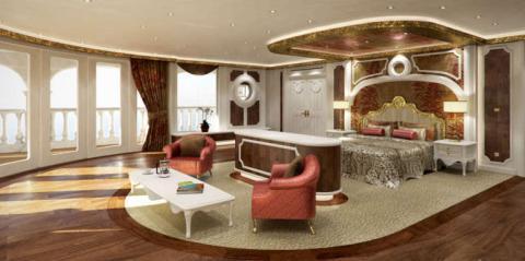 Vista de la habitación VIP para huéspedes.