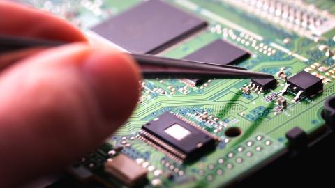 Chip de un ordenador