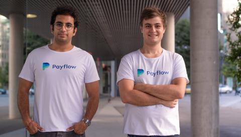Los cofundadores de Payflow, Avinash Sukhwani y Benoit Menardo
