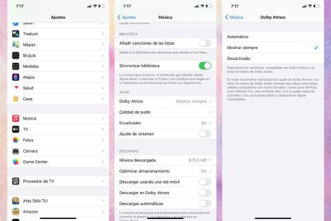 Cómo activar Dolby Atmos en iPhone, iPad y Mac