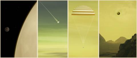 Ilustración de los pasos de DAVINCI + en Venus.