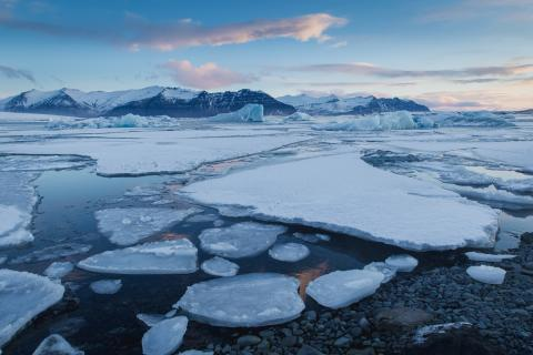 Imagen del deshielo del Ártico.