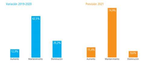 Evolución del empleo en pymes en 2020 y expectativas del sector para 2021